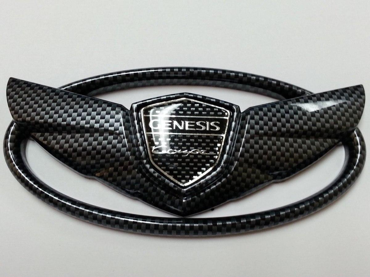 Insignia Hyundai Genesis Coupe Simil Fibra De Carbono