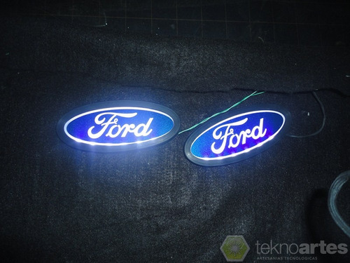 insignia luminosa ford - logo con luces led - tuning
