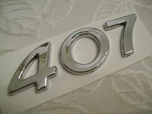 insignia numero 407 peugeot 407 baul