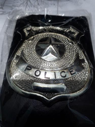 insignia placa metálica policía especial