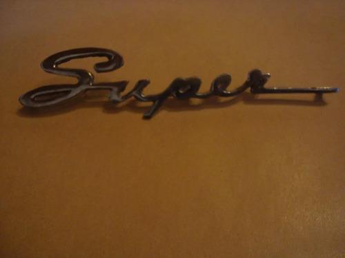 insignia super de auto chevrolet 400 17 cm de largo