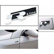 Emblema R Line Adhesivo Aluminio Sport Wolkswagen Con Envio