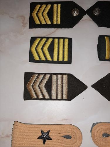 insignias militares teniente y sargento