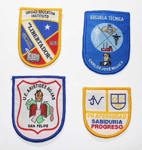 insignias tejidas distintivos escolares tejidos