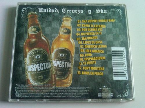 inspector unidad, cerveza y ska cd usado