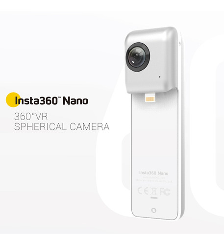 insta360 nano 3k hd vr 360 ° panorámica panorama video