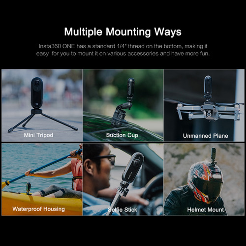 insta360 one 4k 360 vr vídeo acción sports cámara 24mp