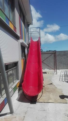 instalacicion de tobogan de emergencia para jardin infantil
