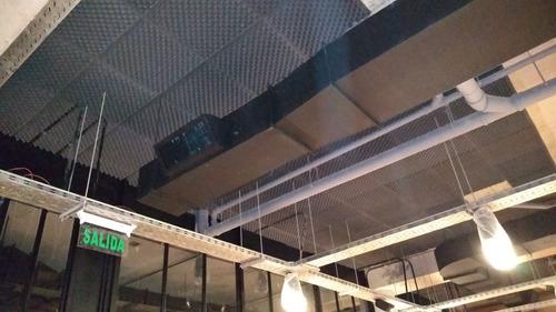 instalaciòn de revestimiento acústico-mano de obra