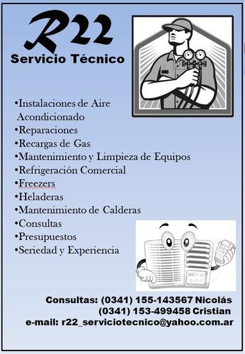 instalación aire acondicionado, reparaciones, recargas.