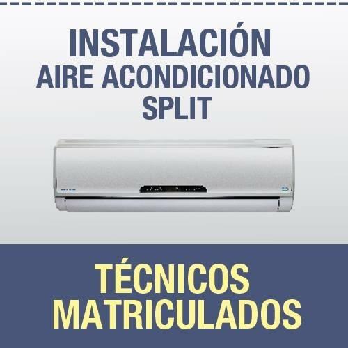 instalación aire acondicionado split.