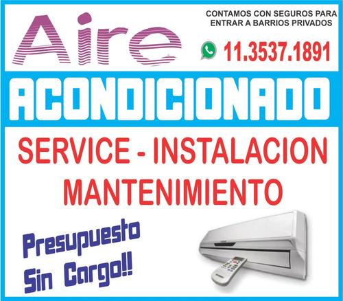 instalacion aire acondicionado split service zona norte