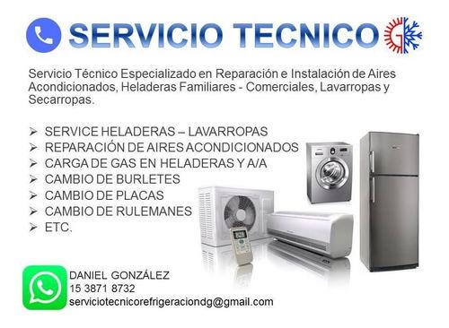 instalación aire acondicionados service heladeras lavarropas