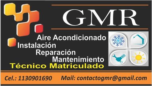 instalación aire split, colocación, reparación, carga gas,