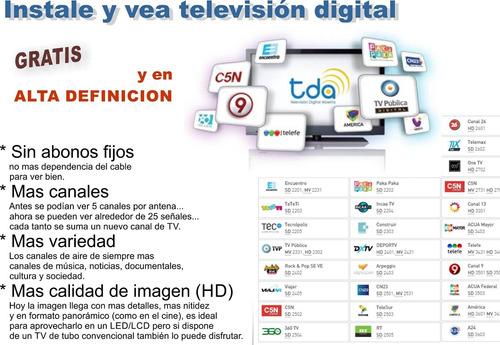 instalación antenas de tda: tv digital y convencional.