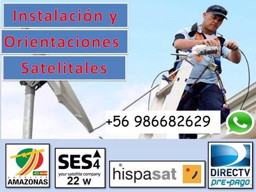 instalación antenas satelitales y kit prepago directv.