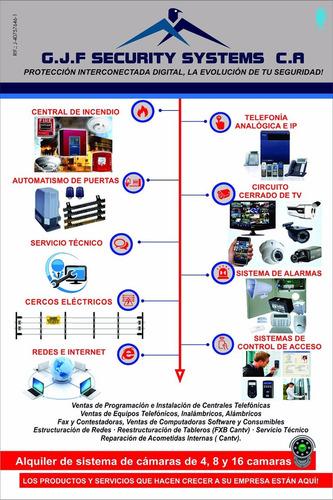 instalación camaras cctv alarmas centrales telefonía redes