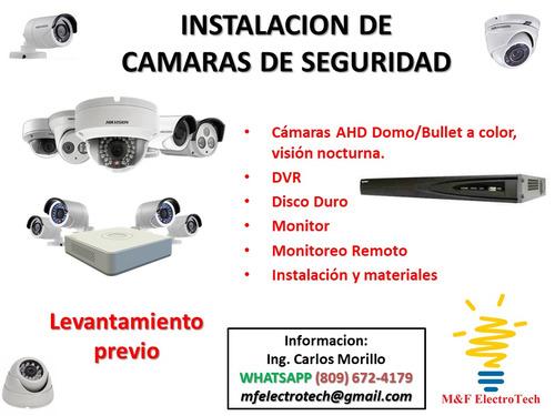 instalación cámaras de videovigilancia