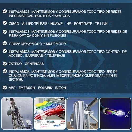 instalacion camaras ,enlaces inalambricos,fibra optica,redes