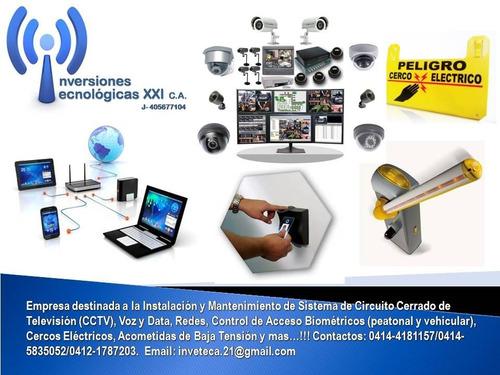instalación cctv, control de acceso biométricos y más!!!