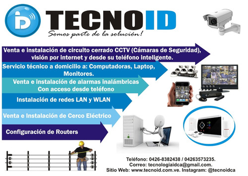 instalación - cctv- redes - computación-comunicaciones