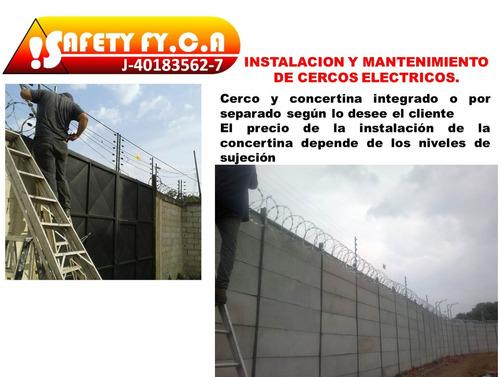 instalación cerco eléctrico y concertina con garantía