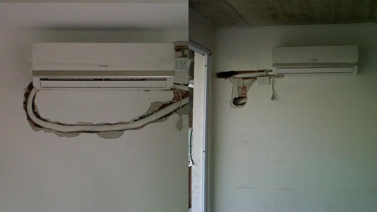 Instalacion colocacion aire acondic split matr sin for Aire acondicionado montaje incluido