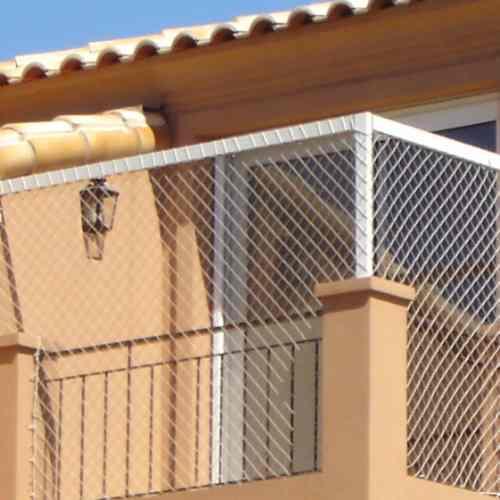 instalacion colocacion red pajaros palomas aves capital