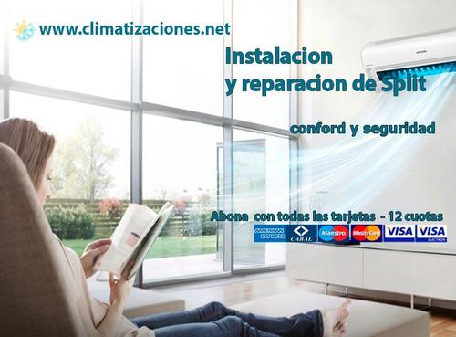 instalacion colocacion service de aires acondicionados split