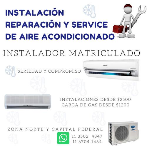 instalación colocación service gas aire acondicionado