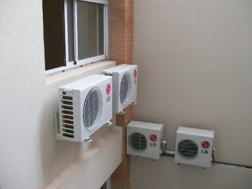 Instalaci n colocaci n split inverter aires acondicionados for Aire acondicionado aparato exterior