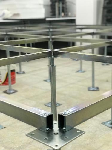 instalacion - colocadores de piso tecnico acero cemento x m2