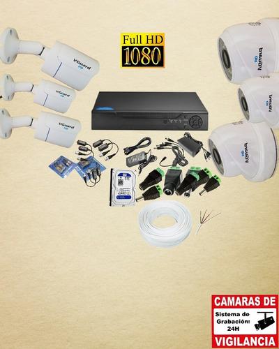 instalación de 6 cámaras, con la mejor resolución de video