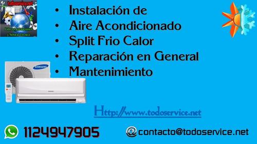 instalacion de aire acondicionado refrigeracion en general