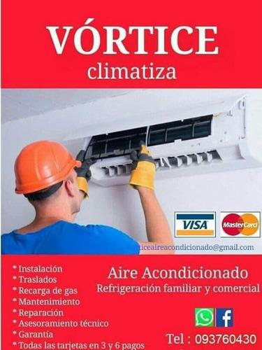 instalación de aire acondicionado reparación carga de gas
