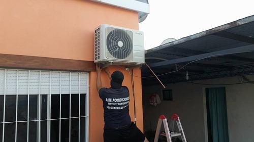 instalación de aire acondicionado, reparación y carga de gas