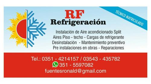 instalación de aire acondicionado split matriculado