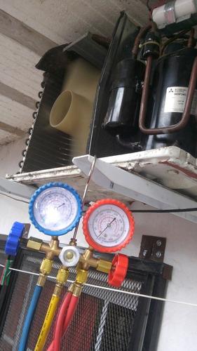 instalacion de aire acondicionado split y ventana