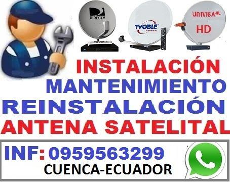 instalación   de antenas satelitales directv tvcable cnt