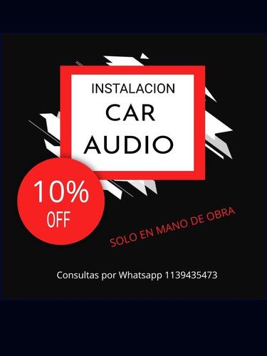 instalacion de audio car
