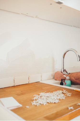 instalación de azulejos
