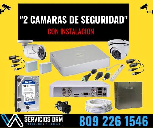 instalación de cámaras de seguridad 1 año de garantia
