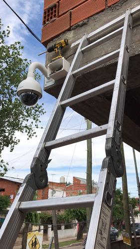 instalación de camaras de seguridad, alarmas y redes.