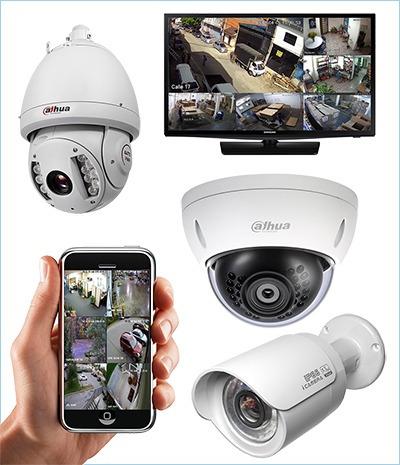 instalación de cámaras de seguridad y sistemas de alarmas.