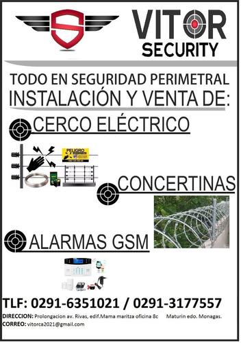 instalacion de concertinas, cerco electrico, alarmas