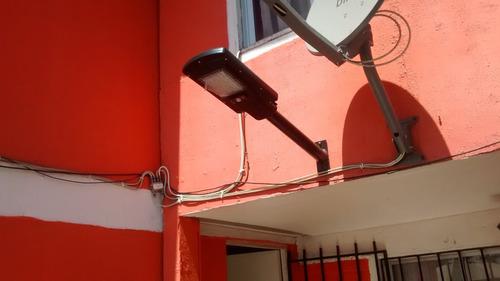 instalación de foco solar