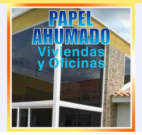 instalación de papel ahumado y de seguridad