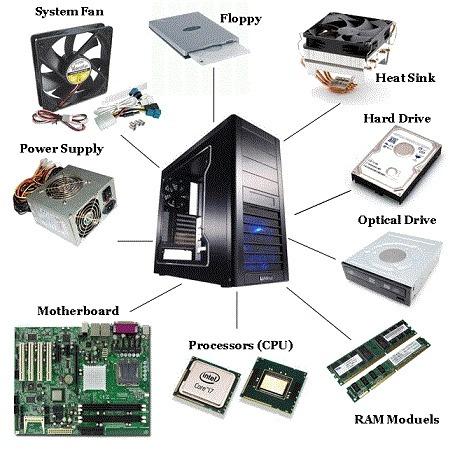 instalación de piezas de hardware (memorias, ram, discos