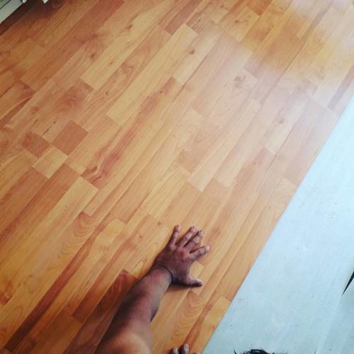 instalación de piso flotante, parquet por m2 $3000
