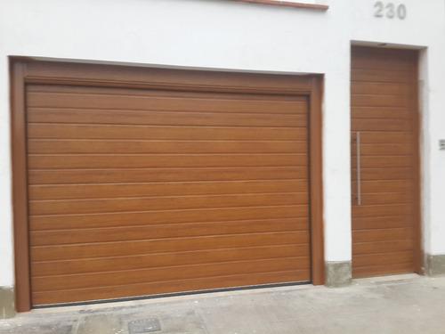 instalacion de puertas de garaje seccionales importadas